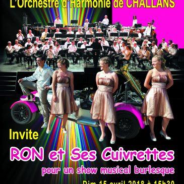 L'Orchestre d'Harmonie de Challans invite Ron et ses Cuivrettes