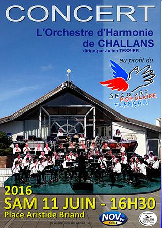 Concert avec le Secours Populaire Français