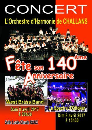 L'Orchestre d'Harmonie de Challans fête son 140ème ANNIVERSAIRE