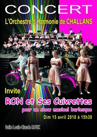 L'Orchestre d'Harmonie de Challans invite «RON ET SES CUIVRETTES»