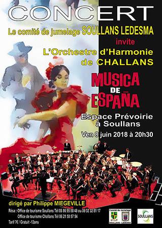 Concert «Musica de España» dans le cadre de la semaine du jumelage SOULLANS – LEDESMA (Espagne)