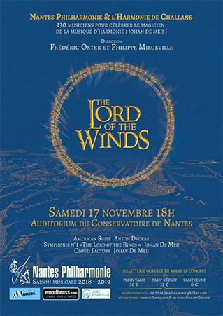 Nantes Philharmonie et l'Orchestre d'Harmonie de Challans célèbre Johan de MEIJ
